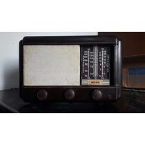 Rádio Antigo Valvulado - Bel - Em Baquelite - Funcionando