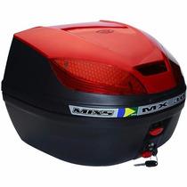 Bau Bauleto Moto Para Bagageiro Mx 30 Litros Mixs Vermelho