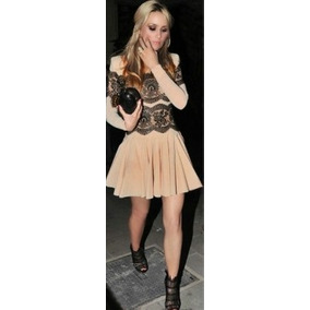 Vestido Estilo Calen Encaje Negro Extra Fashion S M L Xl 2xl