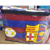 Cubre Lecho Edredon Equipos Futbol Barcelona Cama Doble Aaa