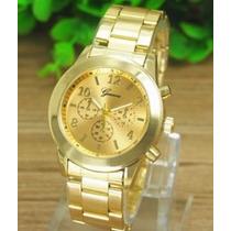 Reloj Quarzo Mujer Geneva Acero Inoxidable Dorado
