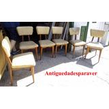 Juego De 6 Sillas Diseño Retro Vintage Escandinavas Impec