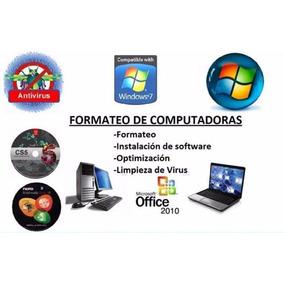 Formateo Y Armado De Pc,windows,office,notebook,all In One!!