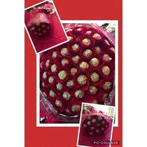 Ramo De Rosas Con Chocolate Ferrero