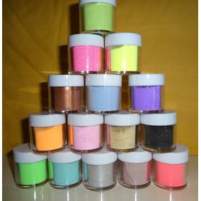 15 Acrilicos De Color Para Decoracion De Uñas Gel Cristales