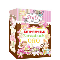 Mega Kit Imprimible Scrapbook Oro Único!! Miralo + Regalos