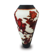 Vaso Decorativo Nakine Vidro Pássaros 42x21x21