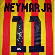 Jersey Firmado Neymar Jr. Barcelona Fc 2013-14 Nike Brasil