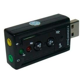 Adaptador - Placa De Som Usb 7.1 Pentrada P2 Fone Microfone
