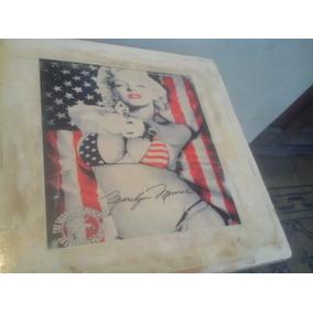 Marilyn Monroe Mesa Arrime Decoracion Retro Laqueada
