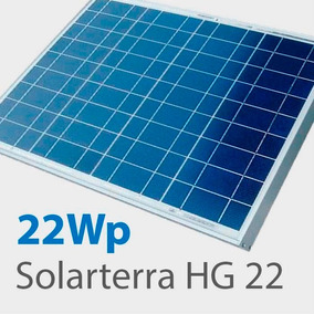 Painel Placa Solar Fotovoltaica 22wp Solarterra Hg22