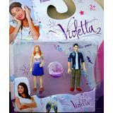 Juguetes Violetta Muñeca Set 2 Personajes Figura Niña