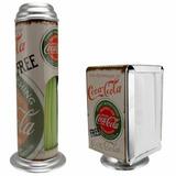 Porta Canudo E Porta Papel Papeleira - Coca Cola- Retrô
