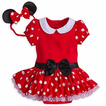 Fantasia Baby Minnie Vermelha Oficial Disney Store P Entrega