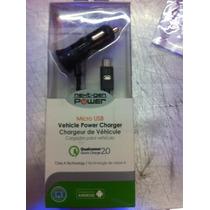 Cargador Quick Charge 2.0 Micro Usb Para Auto Qmadix Ver Rep