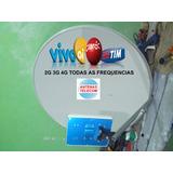 Antena Celular Rural E Internet 60dbi Longo Alcance 2g 3g 4g