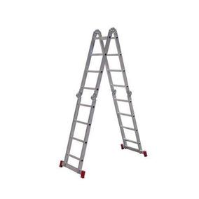 Escada Multifuncional De Alumínio 16 Degraus 4 X 4 Rotterman