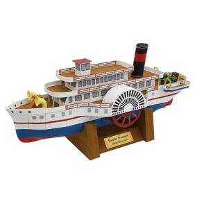 Maquete De Papel 3d - Navios Do Mundo - Paddle Steamer