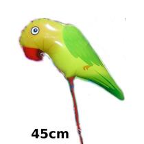 Kit 20un.balão Metalizado Animais Floresta Periquito De Mesa