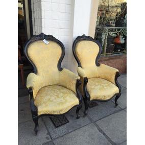 Par de sillones antiguos tapizado sillones antiguos en - Sillones antiguos tapizados ...