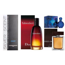 Kit Perfume - Fahrenheit + D&g The One + Midnight + Silver !