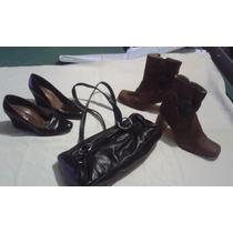 Lote Cartera + Zapatos + Botas