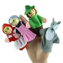 Marionetas Para Dedos Cuento De Caperucita Roja 4 Diferentes
