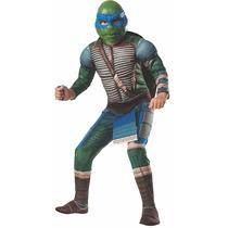 Fantasia Tartarugas Ninja Leonardo Infantil Luxofrete Grátis