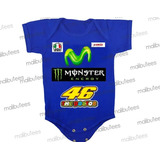 Valentino Rossi Body Infantil Moto Gp Corrida Moto Yamaha