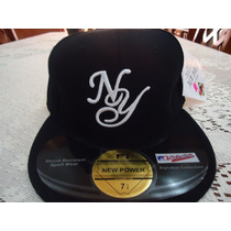 Gorra Negra Y Azul Yankees New York New Power 7 1/8 Y 7 1/4