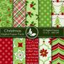 Kit Imprimible Pack Fondos Navidad 8 Clipart