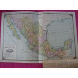Antigua Lamina Billiken Mapa Mexico - Por A. Bemporat