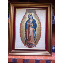 Virgen De Guadalupe Arte Sacro Con Vestido En Hoja De Oro