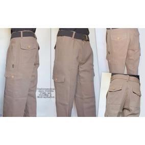 Pantalon Cargo Beige Linco T/ Pampero Gaucho T. 38 Al 48