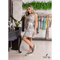 Vestido Estampa Exclusiva + Bordado Perfect Way