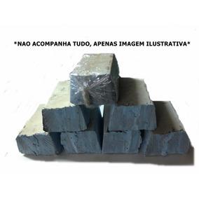 Meia Pedra Azul Para Polir Aluminio/cromado/inox 700g