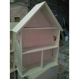 Casita De Muñecas Barbie En Fibro Facil Mdf 9mm P/ Pintar