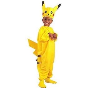 Disfraz Para Niño Pokemon Pikachu Del Traje Del Niño (tamañ 3768537b9890