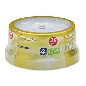 Discos Vírgenes De 4.7 Gb Regrabables. Dvd + Rw. Memorex