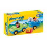 Playmobil 123 Coche Con Trailer Y Caballo 6958