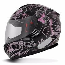 Capacete Fechado Mt Helmets Blade New Butterfly Black Pink P