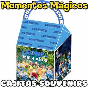 10 Cajitas Souvenirs Los Pitufos Bolsitas Golosinera Cumple