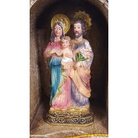 Sagrada Familia Imagem Resina Escultura 9cm