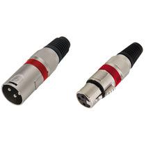 Kit 20 Plugs Conector Xlr Canon Macho/femea Microfone