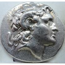 Moeda Antiga Império Grego Tetradracma Prata De Lysimachos