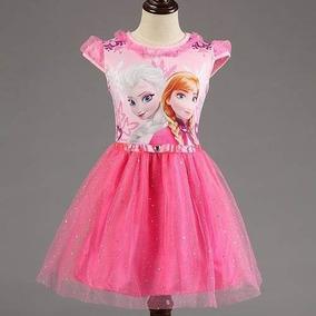Vestido Fantasia Elsa Frozen Princesa Tutu Lindo Promoção