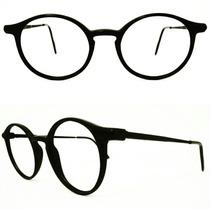 Óculos Redondo Preto Infantil Ou Rosto Fino