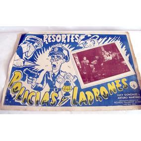 Kcg 2 Lobby Cards Policias Y Ladrones Con Resortes 1956