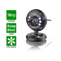 Web Cam Com Led Visão Noturna 16mp Microfone Videos Fotos