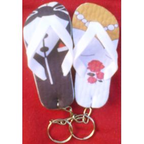 Chaveiro Chinelo Personalizado Lembrancinha Casamento Kit 20